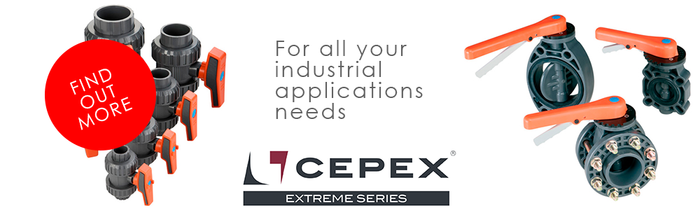 cepex extreme plastic ball valves for all your industrial application needs